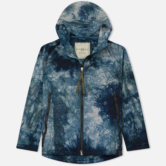 Мужская куртка ветровка Nemen Windbreaker Tie Dye Blue Tones