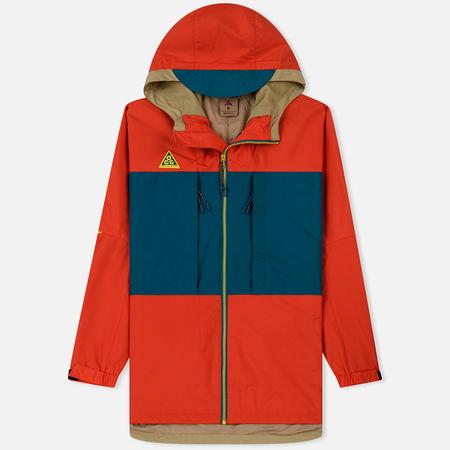 Мужская куртка ветровка Nike ACG Habanero Red/Geode Teal/Parachute Beige