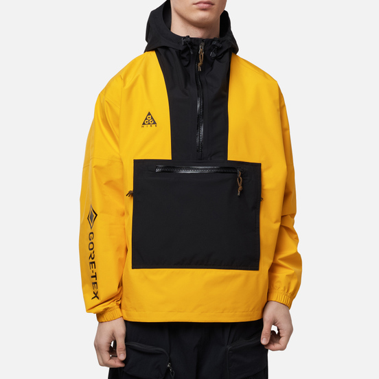 Мужская куртка ветровка Nike ACG NRG Gore-Tex PacLite University Gold/Black