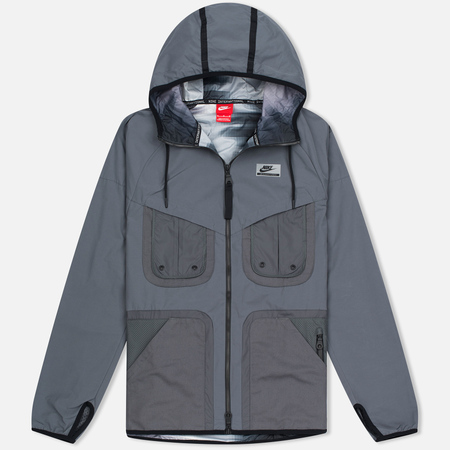 Мужская куртка ветровка Nike International Hooded Dark Grey