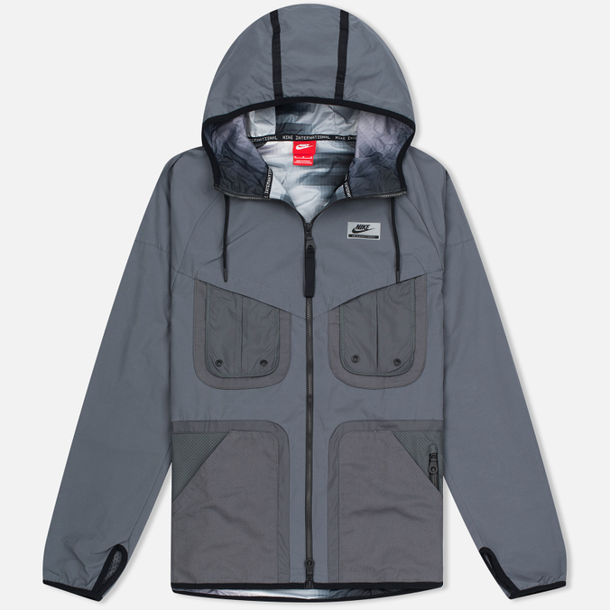 Nike International Hooded Men's Windbreaker Dark Grey