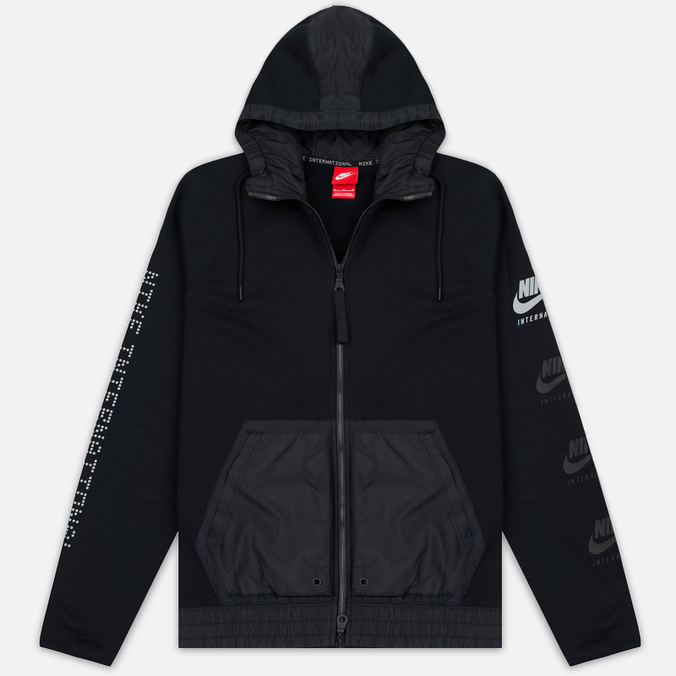 Мужская куртка ветровка Nike International Hoodie Black