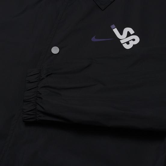 Мужская куртка ветровка Nike SB SSNL Coache Black/Black/White