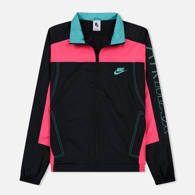 84c8a73b Мужская куртка ветровка Nike x atmos NRG Vintage Patchwork Black/Hyper  Pink/Hyper Jade ...