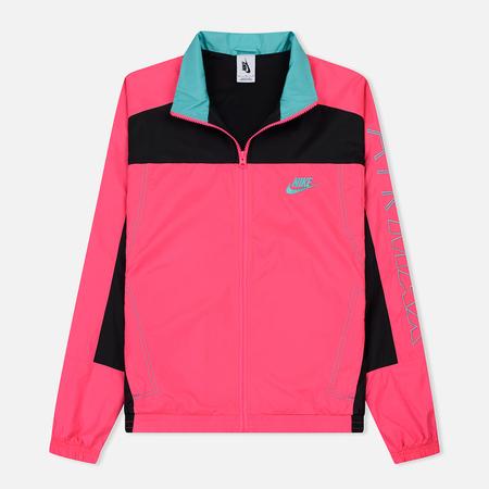 Мужская куртка ветровка Nike x atmos NRG Vintage Patchwork Hyper Pink/Black/Hyper Jade