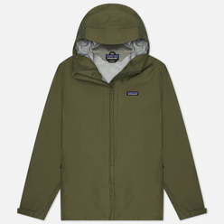 Мужская куртка ветровка Patagonia Torrentshell 3L Industrial Green