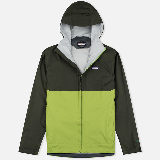 Мужская куртка ветровка Patagonia Torrentshell Kelp Forest/Supply Green