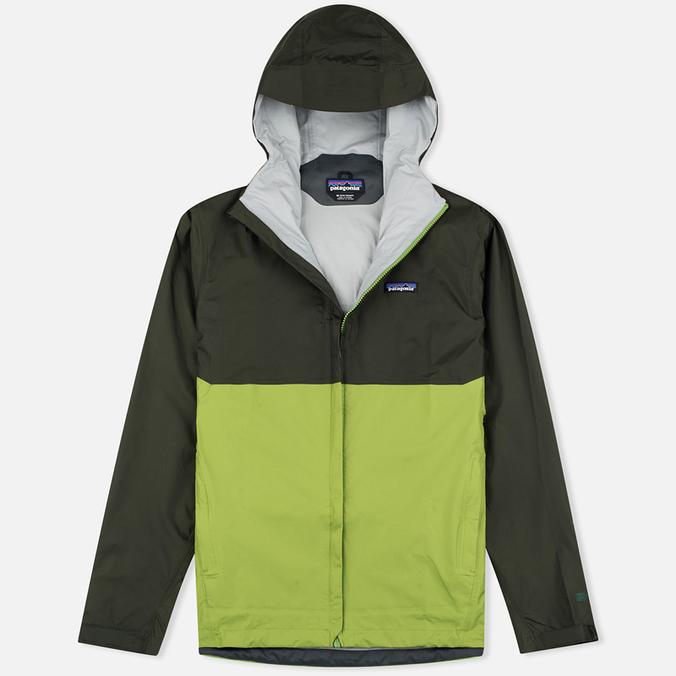 Мужская куртка ветровка Patagonia Torrentshell Kelp Forest/Supply Green