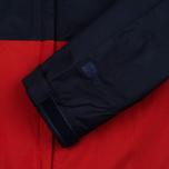 Мужская куртка ветровка Patagonia Torrentshell Navy Blue/Ramble Red фото- 4