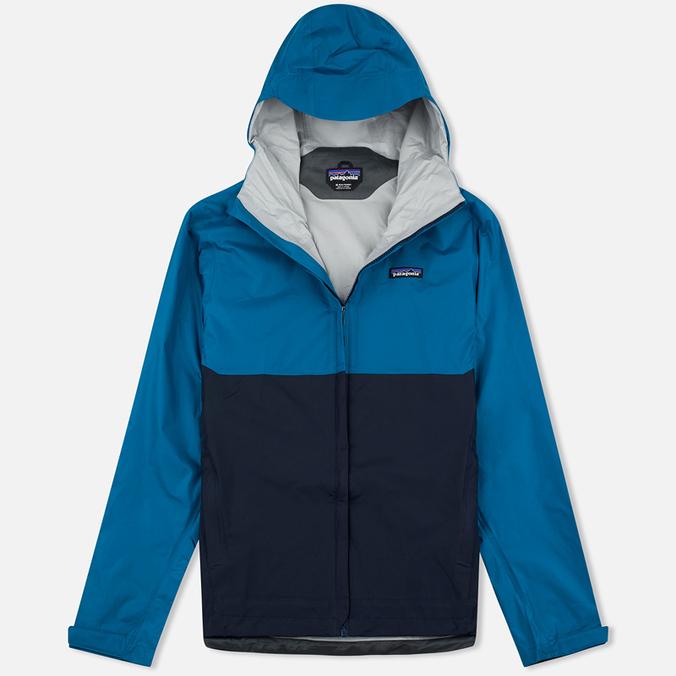 Мужская куртка ветровка Patagonia Torrentshell Underwater Blue/Navy Blue