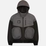 Мужская куртка ветровка Plurimus Softshell Grey фото- 0