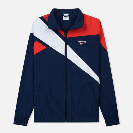 Мужская куртка ветровка Reebok Archive Vector Collegiate Navy Primal Red 7f83efcf695