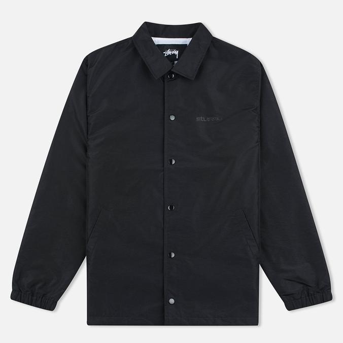 Мужская куртка ветровка Stussy Logo Coach Black