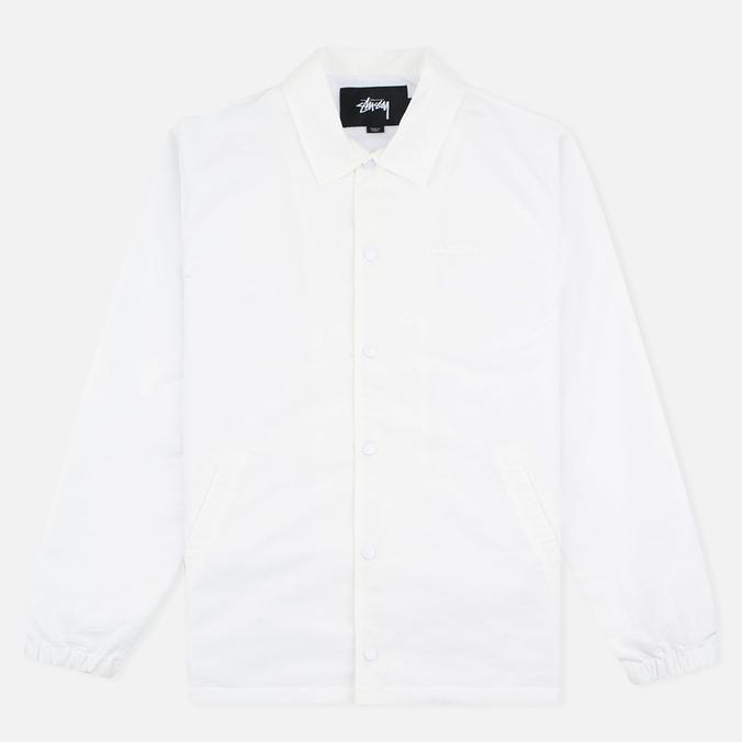 Мужская куртка ветровка Stussy Logo Coach White