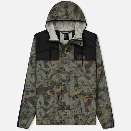 Мужская куртка ветровка The North Face 1985 Seasonal Mountain English Green Camo Print