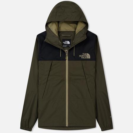 Мужская куртка ветровка The North Face 1990 Mountain Quest New Taupe Green/TNF Black