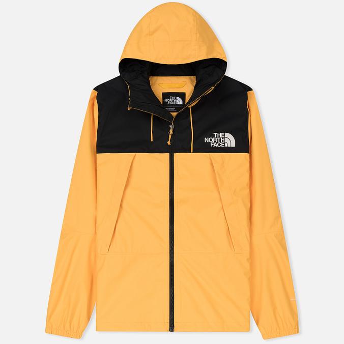 Мужская куртка ветровка The North Face 1990 Mountain Quest TNF Black/Yellow