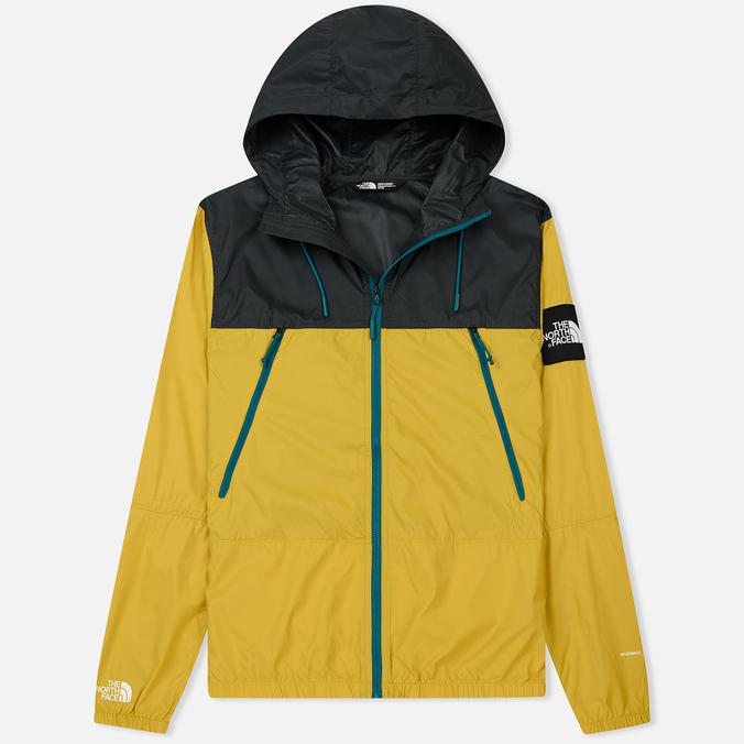 Мужская куртка ветровка The North Face 1990 Seasonal Mountain Leopard Yellow/Asphalt Grey