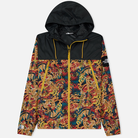 Мужская куртка ветровка The North Face 1990 Seasonal Mountain Leopard Yellow Genesis Print