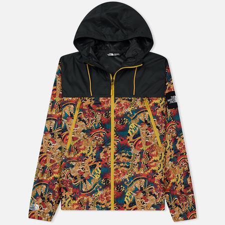 Мужская куртка ветровка The North Face 1990 Seasonal Mountain Leopard Yellow Genesis Print