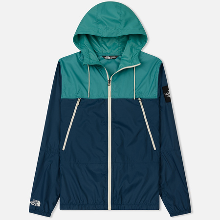 Мужская куртка ветровка The North Face 1991 Seasonal Mountain Blue Wing Teal/Porcelain Green