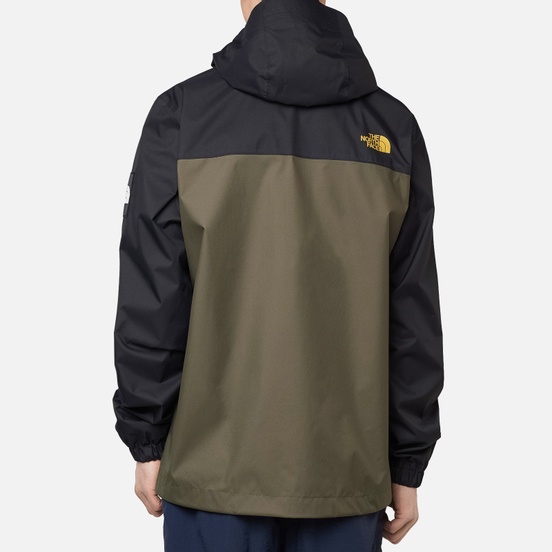 Мужская куртка ветровка The North Face Mountain Quest New Taupe Green/TNF Black