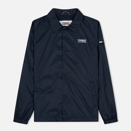 Мужская куртка ветровка Tommy Jeans Solid Coach Black Iris