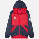 Мужская куртка ветровка Umbro Pro Training Potenza Red/Navy фото- 0