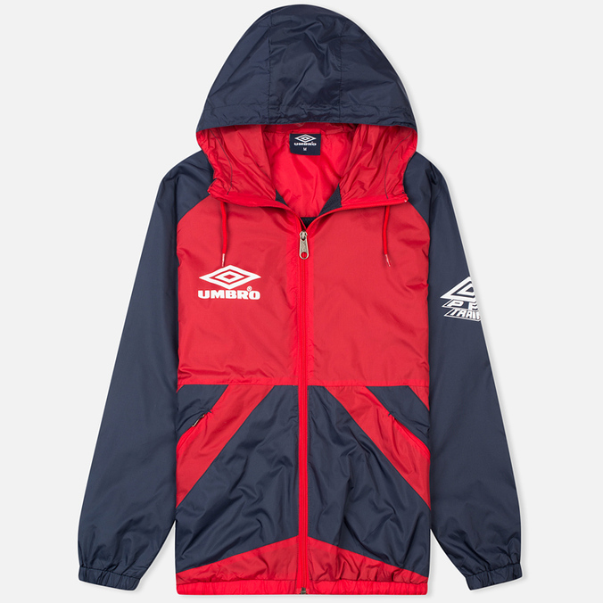 Мужская куртка ветровка Umbro Pro Training Potenza Red/Navy
