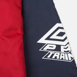 Мужская куртка ветровка Umbro Pro Training Potenza Red/Navy фото- 5