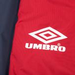 Мужская куртка ветровка Umbro Pro Training Potenza Red/Navy фото- 4