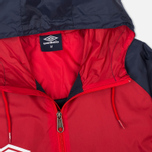 Мужская куртка ветровка Umbro Pro Training Potenza Red/Navy фото- 3