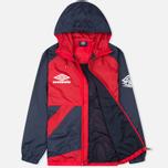 Мужская куртка ветровка Umbro Pro Training Potenza Red/Navy фото- 1