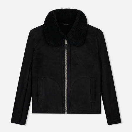 Мужская куртка YMC Budgie Sheepskin Suede Black