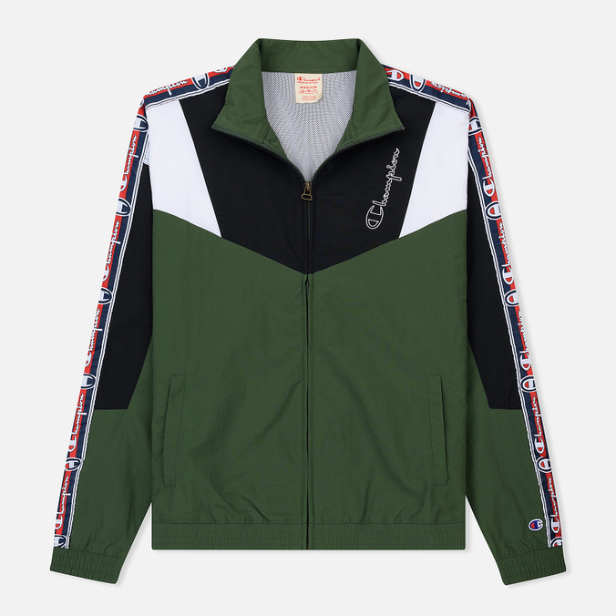 Мужская олимпийка Champion Reverse Weave Full Zip Top Military Green