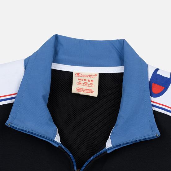 Мужская олимпийка Champion Reverse Weave Peached Feel Crinckle Water Repellent Full Zip Blue/Black/White