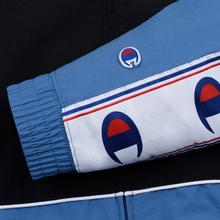 Мужская олимпийка Champion Reverse Weave Peached Feel Crinckle Water Repellent Full Zip Blue/Black/White фото- 5
