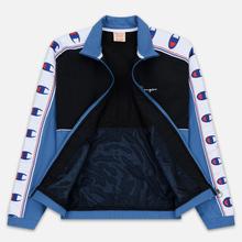 Мужская олимпийка Champion Reverse Weave Peached Feel Crinckle Water Repellent Full Zip Blue/Black/White фото- 2