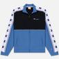 Мужская олимпийка Champion Reverse Weave Peached Feel Crinckle Water Repellent Full Zip Blue/Black/White фото - 0