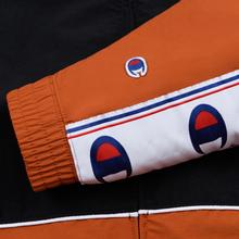 Мужская олимпийка Champion Reverse Weave Peached Feel Crinckle Water Repellent Full Zip Brown/Black/White фото- 4