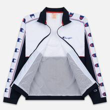 Мужская олимпийка Champion Reverse Weave Peached Feel Crinckle Water Repellent Full Zip Navy/White/Red фото- 2