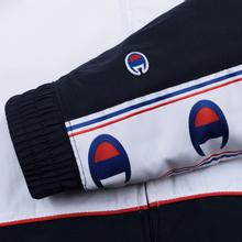 Мужская олимпийка Champion Reverse Weave Peached Feel Crinckle Water Repellent Full Zip Navy/White/Red фото- 5