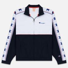 Мужская олимпийка Champion Reverse Weave Peached Feel Crinckle Water Repellent Full Zip Navy/White/Red фото- 0