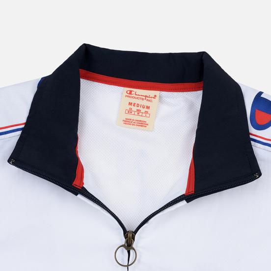 Мужская олимпийка Champion Reverse Weave Peached Feel Crinckle Water Repellent Full Zip Navy/White/Red