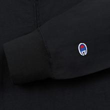 Мужская олимпийка Champion Reverse Weave Water Repellent Half Zip Top Black Beauty фото- 4
