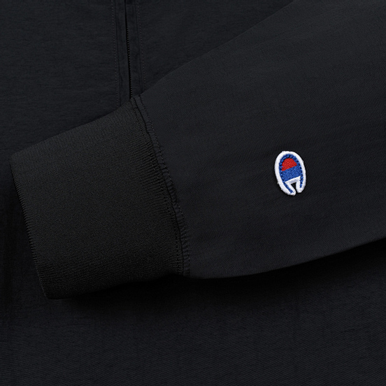 Мужская олимпийка Champion Reverse Weave Water Repellent Half Zip Top Black Beauty