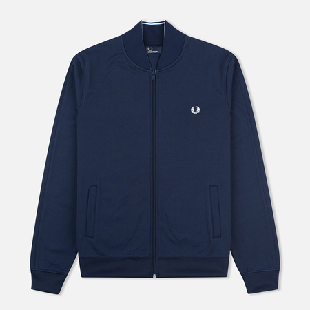 Fred Perry Bomber Neck Men's Track Jacket Carbon Blue