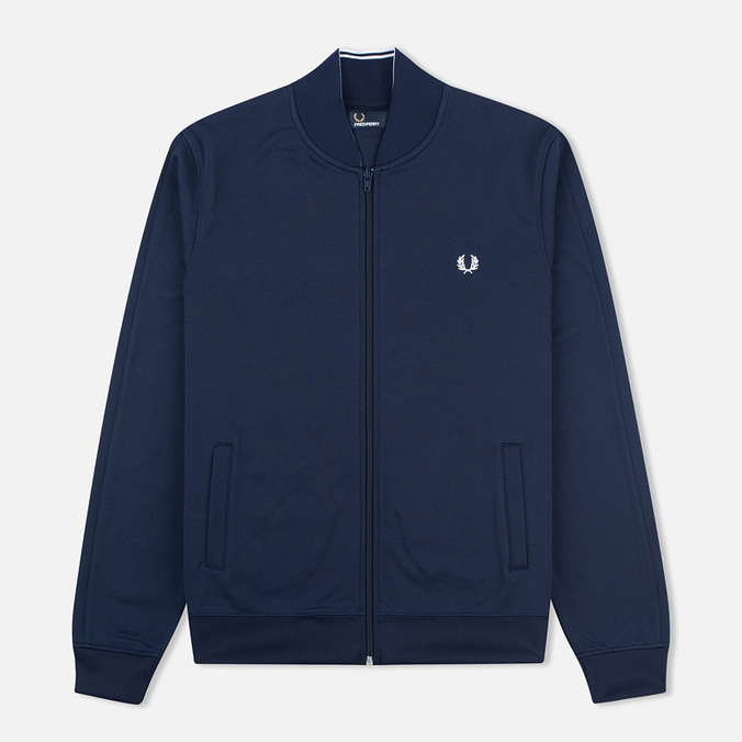 Мужская олимпийка Fred Perry Bomber Neck Carbon Blue