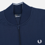 Мужская олимпийка Fred Perry Bomber Neck Carbon Blue фото- 1