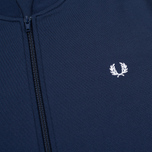 Мужская олимпийка Fred Perry Bomber Neck Carbon Blue фото- 2